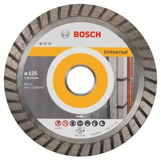 Bosch Diamanttrennscheibe Standard for Universal Turbo, 125x22,23x2x10 mm, 1er-Pack